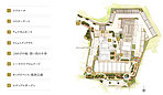 ※イメージイラストは設計図面を基に描いた1階3階の敷地配置図を合わせたものです。