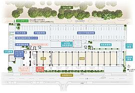 ※掲載の全体敷地配置図は計画段階の図面を基に描き起こしたもので形状・色等は実際とは異なります。また敷地外の公園・道路等合わせて着彩しています。※掲載の情報は2016年10月現在の計画情報となります。