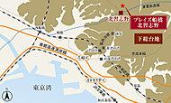 「プレイズ船橋 北習志野」の建設地である習志野台地区は、そのほとんどが下総台地とよばれる洪積層の台地上にあり、良好な地盤に位置しております。