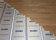 従来の電熱線に変わって面状のプラスチックヒーターを用いたPTC電気式床暖房。※使用・施工状況により異なります。