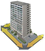 独立性の高い三面接道の立地を確保。3方向から外光を取り入れられることに加え、周囲の建物と一定の距離が保たれるため、陽当たりが遮られにくく、明るく開放的な住環境を叶えます。