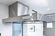 お手入れの簡単なホーロー製の整流板付レンジフード。優れた排気能力でキッチン廻りを快適に保ちます。