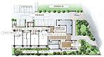 豊かな緑樹が季節を映す、潤いあふれるランドスケープデザイン。街づくり。そんな言葉こそがふさわしい、全412邸の大規模プロジェクト。だからこそ、住まう方の心を潤し、やすらぎを映し出す、ランドスケープを実現しました。