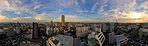 15階からの眺望(夕景)