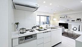 キッチンは高さ/カラー/設備が選べます。