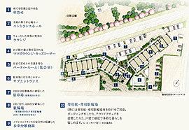 住まう方の安全性・快適性に配慮した、巧みな敷地計画。敷地面積7,800m2超の壮大な計画にふさわしいゆとりある暮らしを演出するために、敷地内にも緻密な配慮を行き届かせています。メインエントランスへの安全性を考慮して歩車分離動線を採用。