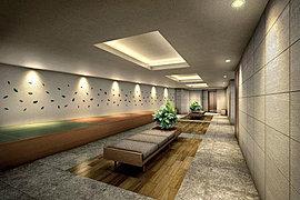 デザイナーズスツールを設けた集いの空間。和モダンを感じる畳に座ってのんびりとおしゃべりができそうです。