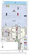 【1】アプローチ【2】全平面駐車場100%確保【3】明るく開放的な、全邸南向き【4】災害時にも安心の防災倉庫を設置【5】不在時に便利な宅配ボックスを設置【6】1階の共用部にタイヤ置き場を完備