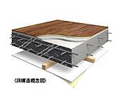 床スラブは、ダブル配筋を施した鉄筋コンクリート構造。フローリングは、耐久性にもすぐれた防音フロアを採用しています。