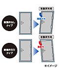 玄関ドアには耐震枠を採用。地震による枠の変形(メーカー基準による)をクリアランス部分が吸収。ドアの不開を防ぐ効果があります。