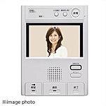 風除室の来訪者を目と声で確認できるインターホン。タッチパネル式のワイド画面仕様です。