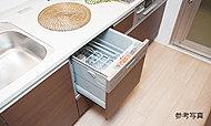 後片付けの時間と負担を軽減できる食器洗い乾燥機を標準装備。