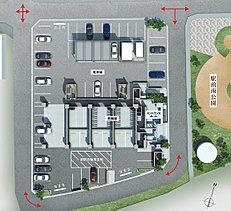 暮らしをデザインする。たとえば四方を道路に囲まれたランドプランは、住まう人の快適性を考えた選択。