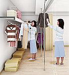 動線が便利!部屋側からと廊下から出入りできる2WAY動線で、衣類の取り出しが楽々!※Cタイプのみ