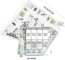 1階住戸は《専用庭・専用駐車場》完備。1階住戸(4タイプ)には、それぞれ専用庭を設置。また、専用駐車場も付いてるため、一戸建て感覚でお暮しいただけます。