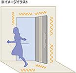 地震で建物に影響が及んでも一定レベルまでは玄関扉(耐震構造玄関枠)が開き、避難通路を確保できるように配慮しています。