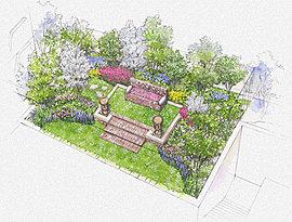 巡る季節を五感で愉しめる庭園。敷地内に、本件に程近い旧ハッサム邸やシャウエケ邸ゆかりの英国様式をモチーフにした、気品ある庭園を創りました。鑑賞できる美しい意匠のガーデンオブジェを設え、優雅な憩いの時を届けます。