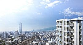 ※掲載の完成予想図は、平成27年3月に撮影した現地12階相当の高さからの眺望写真にCG合成を施したもので、実際とは異なります。今後周辺環境の変化に伴い現在の眺望・景観は将来にわたって保証されるものではありません。