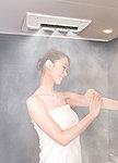 ミストサウナ付浴室暖房乾燥機「ミスティ」を全戸に標準装備。温かいミストが全身をしっかり包み込むから頭からつま先までポカポカに。