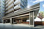 豪華な車寄せを備えた、ホテルを思わせるエントランス。その堂々たる姿は住まう方だけでなく、街の誇りとなるはずです。