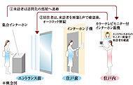 ご入居者様のプライパシーの確保と防犯性を高めるため、住戸内のテレビモニターで来訪者を確認してから解錠できるオートロックシステムを導入。