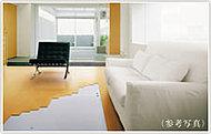 優しい温かさで身体を温める床暖房。暖房風もなく、お部屋のホコリを巻き上げません。