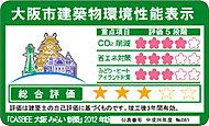 建築物の環境性能を総合的に評価するシステム「CASBEE」を基に大阪市が作成した建築物環境総合性能評価。