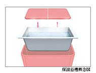 高断熱の保温浴槽を採用。5.5時間経っても約2.5℃下がるだけ。追い炊きの回数が減って光熱費も節約できます。