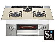 キッチンのガスコンロには万が一を未然に防ぐために、調理油過熱防止装置、立ち消え安全装置、消し忘れ防止機能を装備。(1K・2Kタイプは2口)