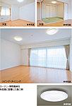 全室に照明器具・カーテンを標準装備。各居室のシーリング照明の他、廊下等のダウンライトも長寿命で省エネルギー性に優れたLED仕様としています。