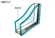 外壁の室内側や屋上・最下階床下に設けた断熱材に加え、開口部には複層ガラスを採用。冷気・熱気の侵入やガラス面の結露を抑え快適な住まいを実現。