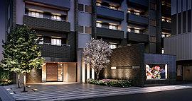 安息の空間へと心を誘う、格調高いアプローチ。 壁や足元にも隙のないデザインを凝らした気品あふれる構えです。