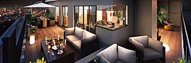 最上階には赤迫の街を一望できるセカンドリビングとしても使えるルーフバルコニーで、夜の煙めきを眺めながらゆっくりとディナー、友人を呼んで開かれるパーティーなど、ゆとりの空間で広がる素敵な時間をお過ごしください。