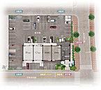 ・ストレスフリーな平置き駐車場100%。