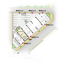 歩車分離設計や平置駐車場の確保など、住まう方の安全性・快適性にも配慮。光と緑に溢れ、開放感に満ちた毎日が、ここから始まります。