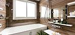 簡単操作のフルオートバス/ゆったりと落ち着ける木目調鏡面パネル/キレイサーモフロア/エコフル多機能シャワー/浴室暖房乾燥機