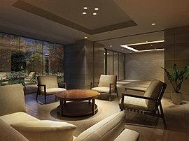 エントランスラウンジは、来訪者との待ち合わせや、住み方同士の語らいにも便利なスペースです。