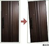 地震で玄関のフレームが変形しても、玄関ドアが開く耐震ドア枠を採用。万一の住戸内への閉じ込めを防ぎます。