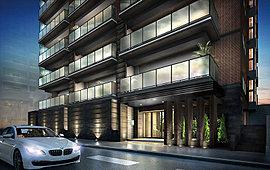風格と気品に満ちたアプローチデザイン。街並に優雅な表情を与え、住まう人の誇りとなる。