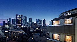 摩天楼を日常に取り込んで。上層階のプライベート空間から対峙できるのは、新宿の西口エリアにおいて、超高層ビルディングが美しきファサードを競演させる姿。