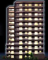 """「プレシス堀切菖蒲園」は、都心アクセスの利便性を持ちながらも、都会の喧噪から離れた、穏やかな住宅街に誕生します。全戸南向きの窓からは、""""東京の今""""を象徴する東京スカイツリーを望む開放的な眺望が広がります。"""