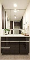 機能性と清潔感にこだわった洗面スペース