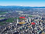 空撮 ※現地周辺航空写真(平成28年2月撮影)に一部CG加工を施したもので実際とは多少異なります。