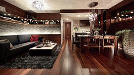 心地よい広がりを感じながら、豊饒な静謐に満たされる住空間。
