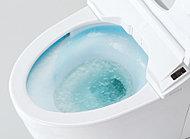 工夫により少量の水でも充分な洗浄効果のある節水型便器を採用。エコにも貢献できます。