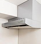 キッチンの空気循環をいつもクリアに保つ整流板付きのレンジフードを採用しています。
