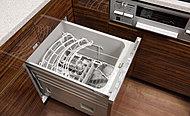 食器の片付けも簡単な食器洗乾燥機を標準装備しました。
