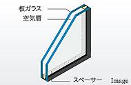 2枚のガラスの間に中間層を設け、断熱効果を発揮する複層ガラスを採用しました。冷暖房効果を高めるので、省エネにも役立ちます。