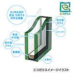 2枚のガラスの間に空気層を設けた複層ガラスの中でも、性能の高い「エコガラス(Low-E複層ガラス)」仕様のものを、住戸の窓に採用。