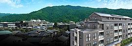 京の文化的景観を内包する、主峰・如意ヶ岳に表す大の字を臨む邸。平安時代は院政の舞台として。貴族の別荘や六勝寺などが建立された歴史。明治には琵琶湖疏水の開削、蹴上での水力発電により、京都の近代化を支えた場所。